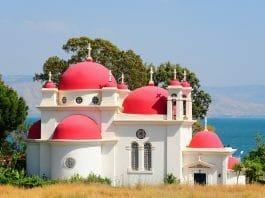 Israel die griechisch-orthodoxe Kirche der sieben Apostel Kapernaum