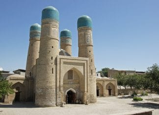 Chor Minor Moschee in Buchara, Usbekistan