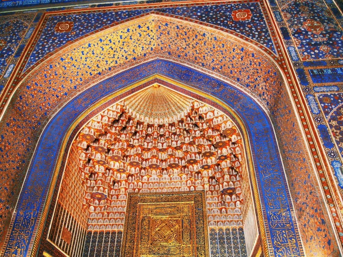 Innenraum Moschee Gol-Blau Usbekistan