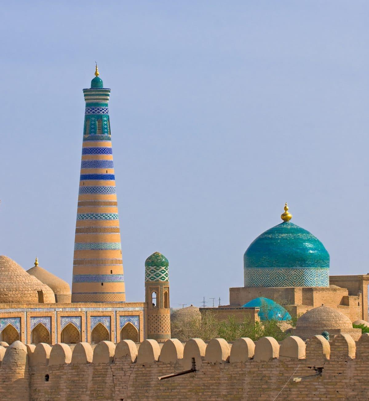 Minarett in Chiva, Usbekistan