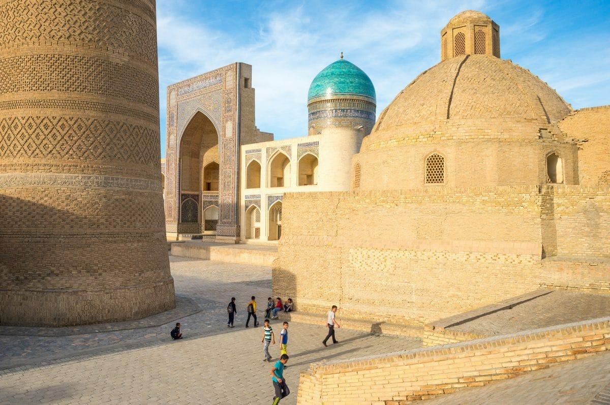 Registan Platz in Samarqand, Usbekistan