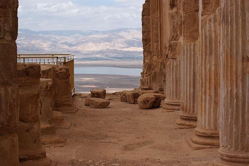 Israel_von Masada auf das Tote Meer